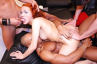 Hardcore mating all over hot ash-blonde