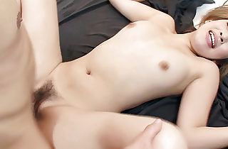 Super-cute and appetizing Hatsuka Kobayashi plays with two hard dicks