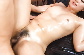 Haruka Uchiyama is oiled in increased by riding a immutable cockuntil she cums hard.